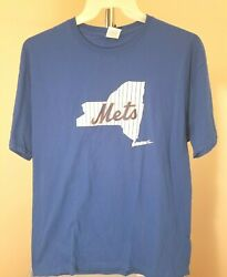 New York Mets Mlb Classic Blue State Of New York Xl T-shirt
