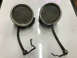 Pair Vintage Early Cowl Lamp Lights Old 1920's 1930's Chrysler Auto Dodge Car