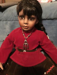Native American Indian Doll Girl - Collection Inc. Porcelain Doll