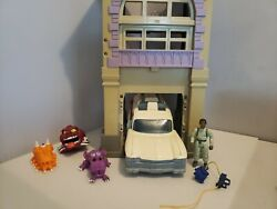 Vintage 1980and039s Ghostbusters Lot Ecto 1 Vehicle Firehouse And Figures