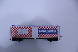 Vintage H.o. Scale Model Railroad Car Ralston Purina Advertising Red White Blue
