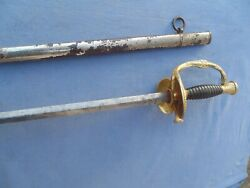 Very Pretty Sword Epee A Ciselure Mle 1872 Sup Officier State Major Scabbard
