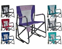 Gci Outdoor Freestyle Rocker Mesh Chair Folding Portable Camping Cup Holdernew