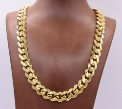 13mm Miami Cuban Royal Link Chain Necklace Cz Box Clasp Real 14k Yellow Gold