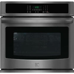 Kenmore 30 Electric Single Convection Wall Oven 49517 Black Stainless Steel