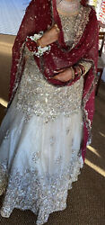 Pakistani/indian Bridal Wedding Outift Top And Skirt Bag Included - Only Wore Once