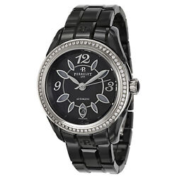 Perrelet Womenand039s A2041-ba Classic Eve 40mm Black Dial Ceramic Watch