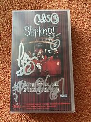 Slipknot Signed Vhs Full Band Rare And Authentic