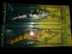 Two Vintage Lindy Little Joe Giant Shad 8andrdquo Musky Bait Fishing Lures