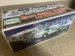 Brand New Hess Suv Truck Sport Utility Vehicle And Motorcycles 2004 Toy Christmas