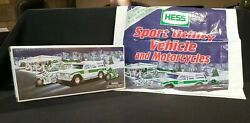 New 2004 Hess Sport Utility Vehicle And Motorcycles And Bag 40th Anniversary Truck