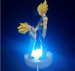 Anime Dragon Ball Z Vegeta Andtrunks Figure Father And Son Figure 13cm Led Toysb