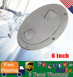 1pc 6 Inch Boat Marine Deck Plate 316 Stainless Steel Inspection Access Ss316