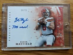 2018 Panini Origins Baker Mayfield Rc Auto Inscribed The Land /25