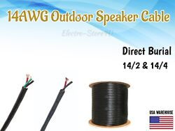 Outdoor Audio Speaker Cable 14/2 14/4 14awg Uv Protection Direct Burial Wire Cl2