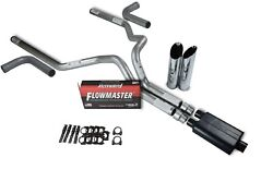 07-14 Chevy Gmc 1500 3 Dual Exhaust Kit Flowmaster 40 Series Slash Side Exit