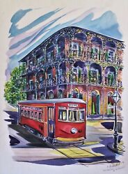 Watercolor French Quarter Royal And St. Peter New Orleans By Alexander Fedorsky