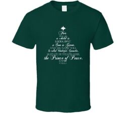 For Unto Us A Child Is Born Christmas Bible Verse Christian Gift T Shirt