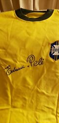 Diego Maradona And Pele Signed Jersey With Proof Shirt Hot Hot