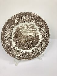 Vintage H. Aynsley And Co Ironstone Brown White Hunt Englandand039s Heritage 8 1/8andrdquo