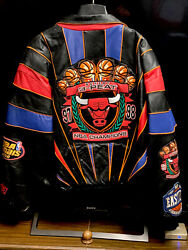 Chicago Bulls Repeat 3 Peat Leather Jacket