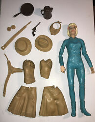 Marx 1965 Best Of The West Jane West Action Figure + 13 Pieces Accessories