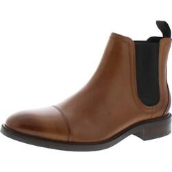 Cole Haan Mens Conway Leather Pull On Waterproof Chelsea Boots Shoes BHFO 4186 $43.99