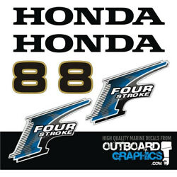 Honda Bf8 8hp 4 Stroke Outboard Engine Decals/sticker Kit