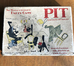 1920's Parker Brothers Pit Trading Card Game Bull And Bear Flapper Graphics