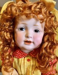 Antique 16andrdquo 220 Kestner German Bisque Toddler Doll W/mohair Wig And Great Outfit