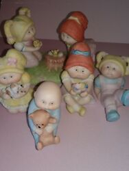 Vintage Cabbage Patch Kids Ceramic Small Figurines 1984