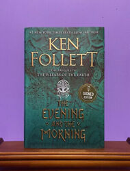 The Evening and the Morning by Ken Follett 2020 Hardcover SIGNED 1st 1st Ed $59.95