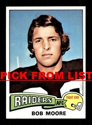 1975 Topps Football 287-524 Ex/ex-mt Pick From List All Pictured