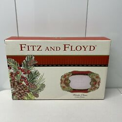 Fitz And Floyd Winter Claus Cookie Platter 2015