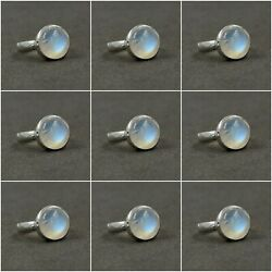Solid 925 Sterling Silver Rainbow Moonstone Rings Wholesale Lot 9 Ring Size 6-8