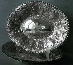 C.1890 Set Of 4 Victorian Sibray Hall Sterling Silver Fruit Dishes W/ Armorial
