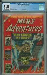 Menand039s Adventures 25 Cgc 6.0 Ow/wh Pages // Golden Age Shrunken Head Cover