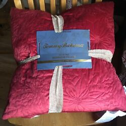 Tommy Bahama Red Velvet Poinsettia Holly Holiday Christmas Indoor Throw Pillows