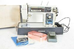 Vintage Morse Fotomatic Iv Auto Zig Zag Sewing Machine Model 4400 Tested Working