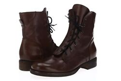Womenand039s Alberto Fermani 165700 Brown Leather Urban Combat Boots Size 39