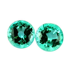 Emerald Pair 0.71ct Rare Aaa Green Color 100 Natural Earth Mined From Zambia