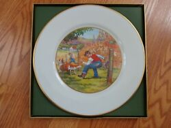 Boxed 1975-1976 Oxford Bone China Dekalb Seed Dealer Award Plate - An Accident