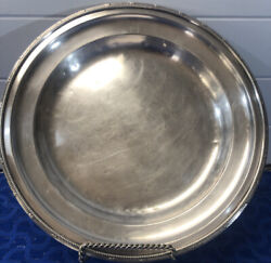 """Vintage Ritz Carlton Gm Co Ep Silver Plate 11"""" Restaurant Hotel Serving Tray"""