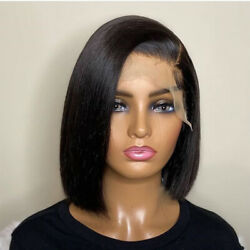Short Bob Straight Lace Front Wigs 100 Real Remy Human Hair Wigs Pre Plucked P9