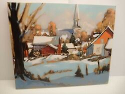 Canada Quebec Painting By Gilles Bedard 20x24 Charlevoix Landscape Quebec Wow