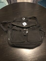 Burton Black Messenger Backpack $45.00
