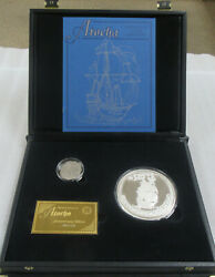375th Anniversary Set Atocha 8 Reale And 8 Oz Silver Round From Shipwreck