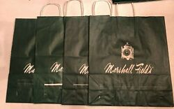 Set Of 4 Marshall Fieldand039s Fields Green Paper Shopping Bag Collectible Clock