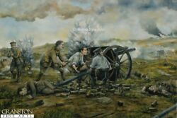 Original Oil Painting Battle Of Nery Royal Horse Artillery L Battery