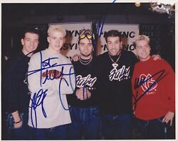 Nsync Full Band Signed 8x10 Jsa Certified Letter Of Authenticity Timberlake